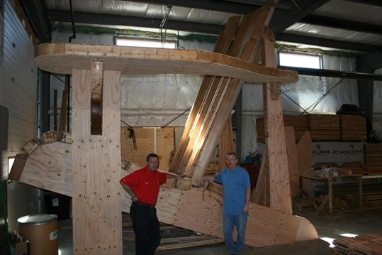 building the world s biggest muskoka chair muskokaregion com