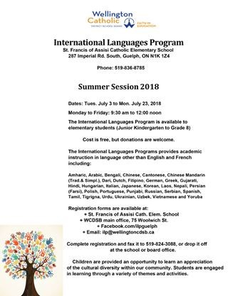 INTERNATIONAL LANGUAGES PROGRAM on July 03,2018 | Toronto com