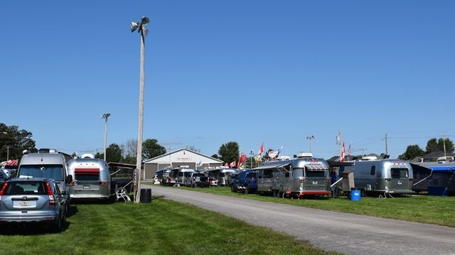 Airstream rally at Richmond fairgrounds in Richmond