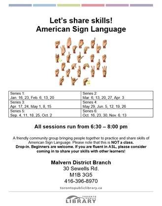 American Sign Language on February 20,2019 | Toronto com
