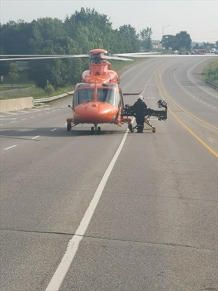 Man Airlifted To Hospital After Motorcycle Crash On Highway 7 8 In