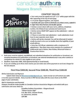 15 Stories High Writing Contest on September 10,2019