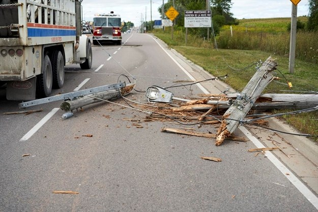 Highway 6 closed due to fallen hydro lines | TheSpec com