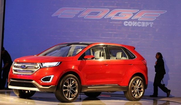 The Ford Edge Concept Vehicle Not Necessarily The Vehicle To Be Built In Oakville On Display At The Toronto Auto February