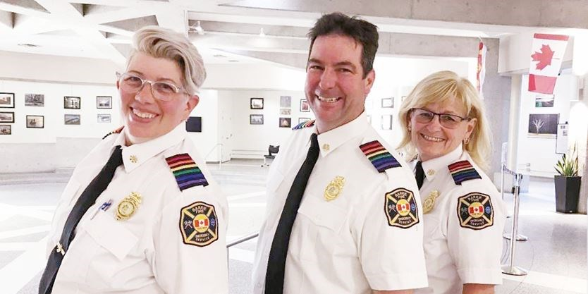 three firefighters