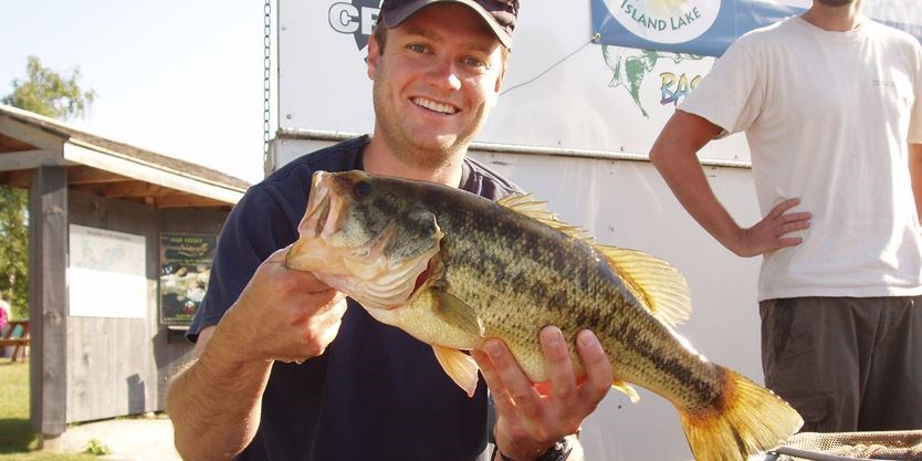 Fishing derby winner pulls 4 5 lb bass from Island Lake
