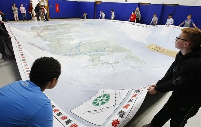 Map Of Canada Grade 6.Exploring Canada In A Peterborough School Gymnasium