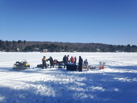 Ice fishing parry sound