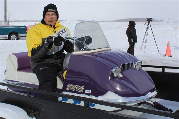 Vintage snowmobiles on display at Howick show