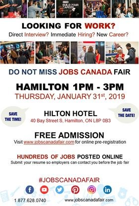 5041dca306 Hamilton job fair - january 31st