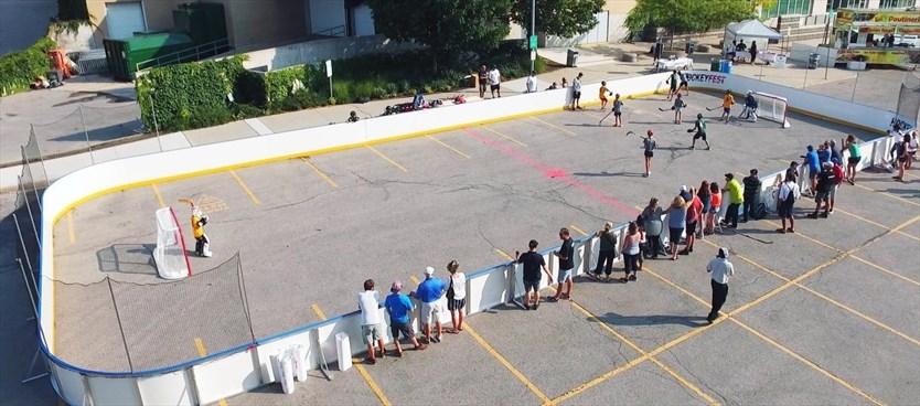 Hockeyfest Game On A Family Friendly Ball Hockey Event