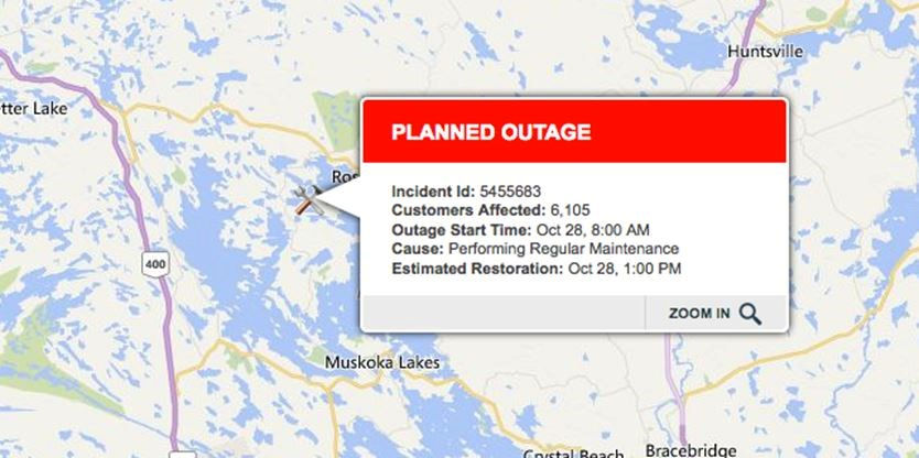 Ontario Hydro Power Outage Map.Planned Hydro One Outage For Oct 28 In Parts Of Muskoka