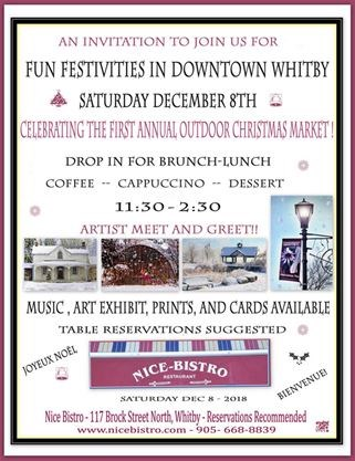 Nice Bistro Celebrates Winter! Art and Music Event on