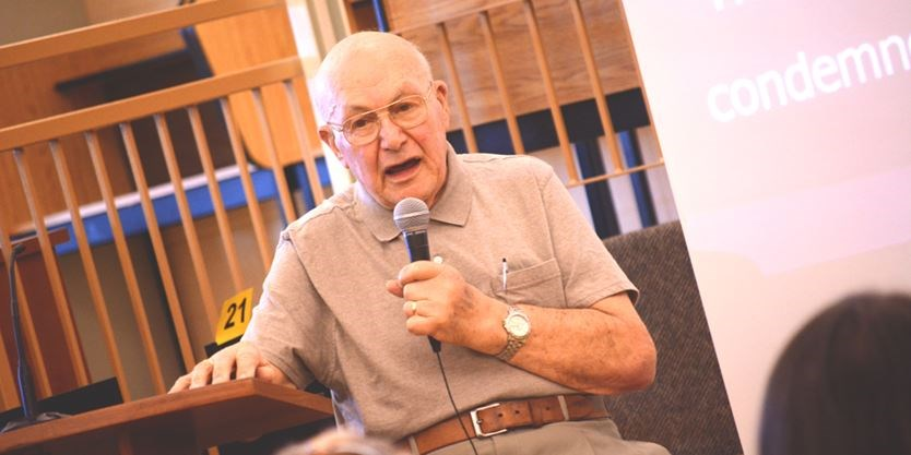 Holocaust Survivor Meisels Speaks At Robert F Hall With Message To