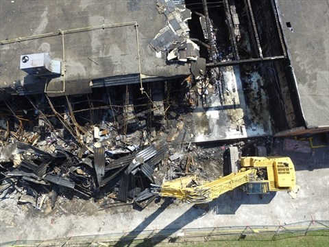 dollarama demolition soon fire damage estimated at 2