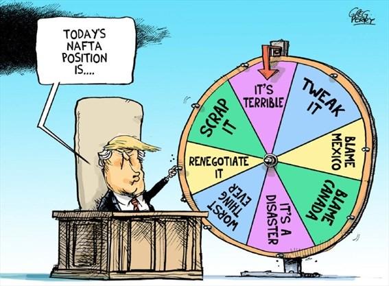 Image result for trump nafta cartoon