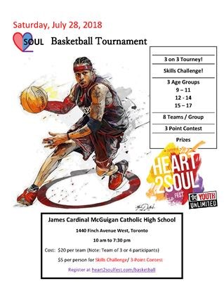 Heart 2 Soul Fests 3 On Basketball Tournament July 28 2018