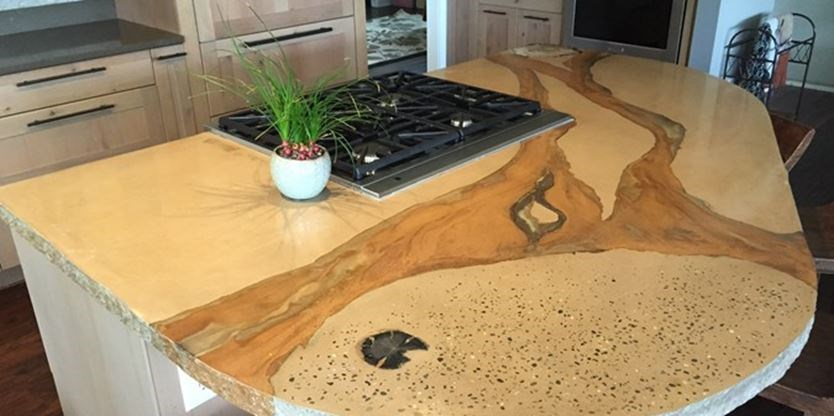 Concrete Counter Tops Are Durable And Easily Customized.
