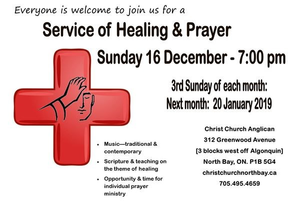 2018 December Service of Healing & Prayer on December 16