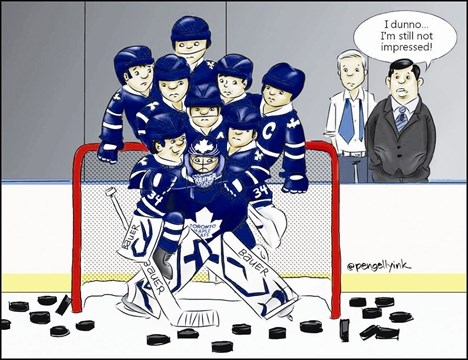 finest selection d8011 adc52 Toronto Maple Leafs cartoonist goes viral | BramptonGuardian ...