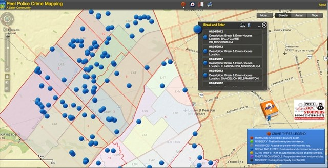 Peel police introduce crime mapping BramptonGuardiancom