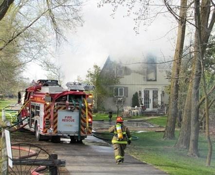 Fire destroys Hwy. 9 antiques barn | Simcoe.com