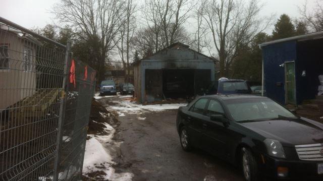 Update bowmanville taxi garage fire closes king street