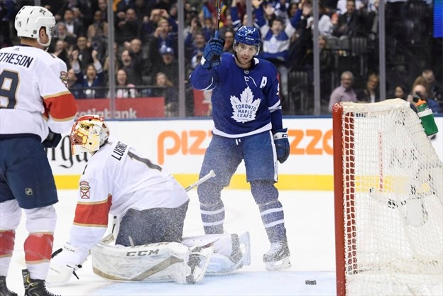 7f8505dd3d157 John Tavares scores four times to lead the Toronto Maple Leafs past the  Florida Panthers