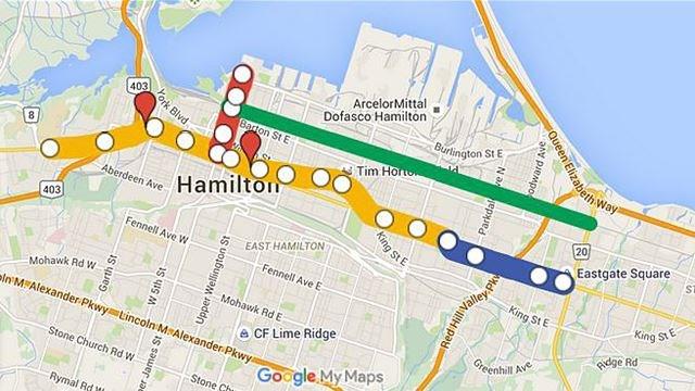 Hamilton Lrt Map Hamilton LRT | TheSpec.com