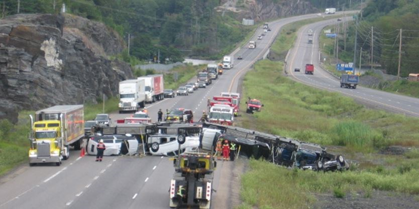 UPDATE: Rollover on Highway 400 northbound, Parry Sound cleared
