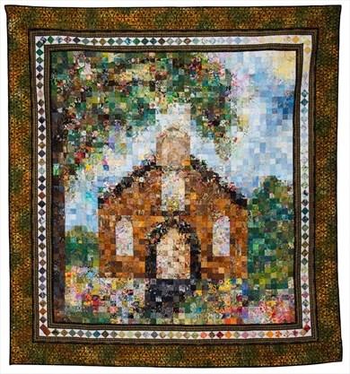 Mennonite Relief Sale's feature quilt, Little Brown Church