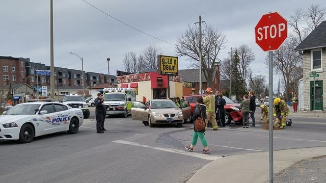 Motor vehicle collision at Nelson and Princess Streets