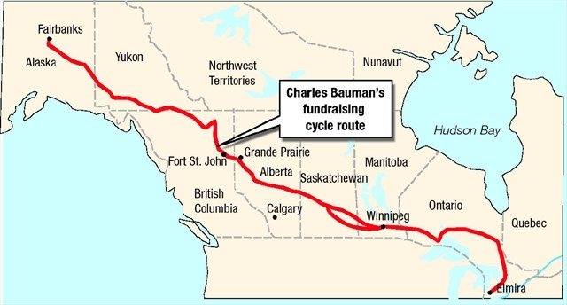 Remarkable elmira man cycles to alaska and back therecord cycling route gumiabroncs Images