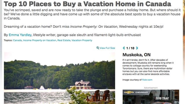 Muskoka Named Top Spot To Buy A Vacation Home In Canada - Top 10 countries to buy vacation property