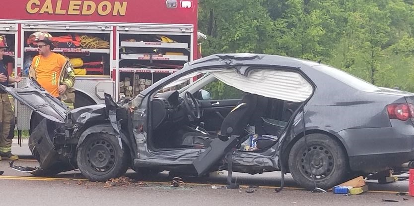 Man in his 60s rushed to trauma centre after Hwy  10 crash