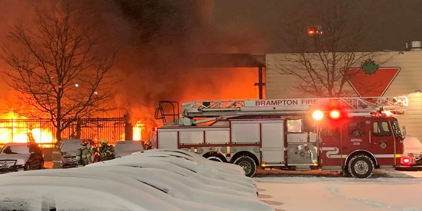 Canadian Tire fire