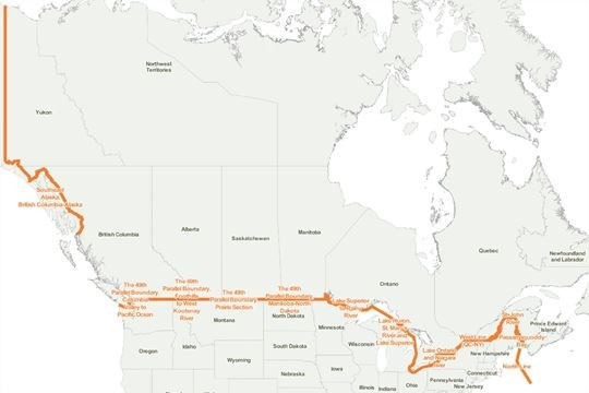 How much would it cost to build a wall on the Canada-U.S. ...