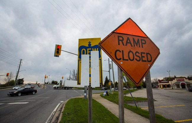 QEW ramp closures throw a wrench into highway trips