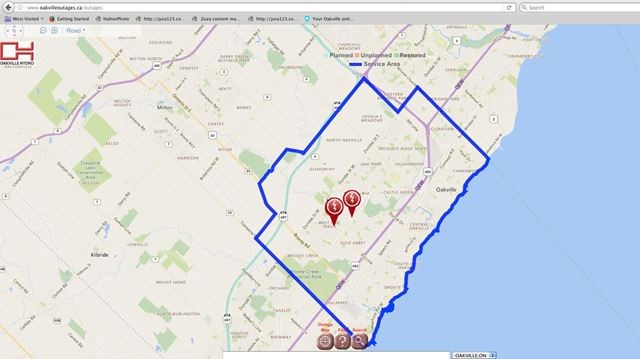 Northeast Power Outage Map.Power Restored In Northeast Oakville After Two Separate Outages