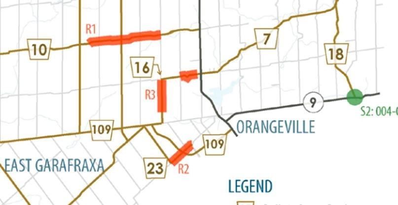 MAP: Here's the 27 9 km of road and bridge work Dufferin