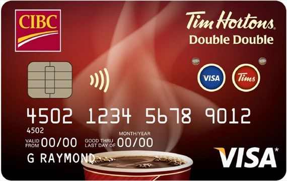 Double double tim hortons visa card lights up thespec new cibc tim hortons double double visa card features technolgoy that lights up hand outcibc reheart Choice Image