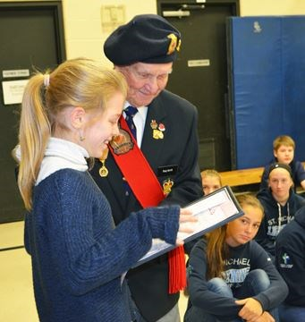 Legion contest winners students contestants remebrance day