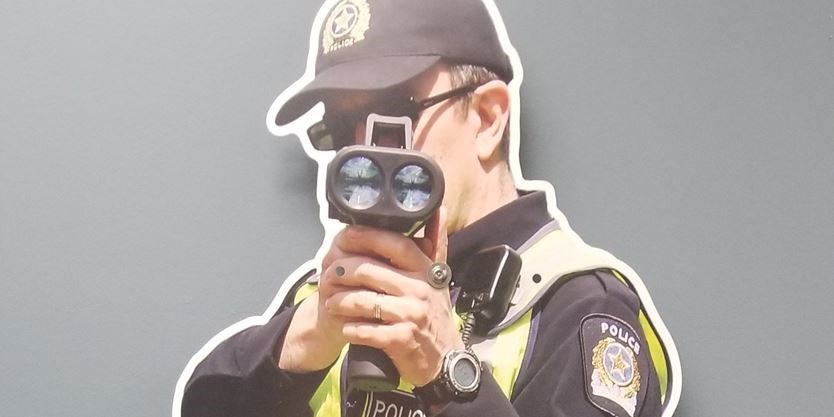 Cop cutout will target speeding Barrie drivers this summer | Simcoe com