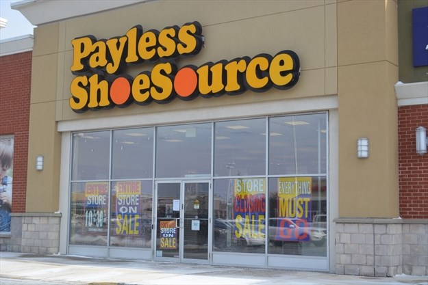 What's going on here? Payless cl. Payless Shoe Source in Bolton is closing ...