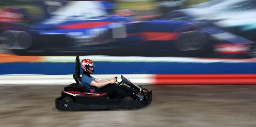 Go-karts at K1 Speed in Downsview Park can hit 70 km/h