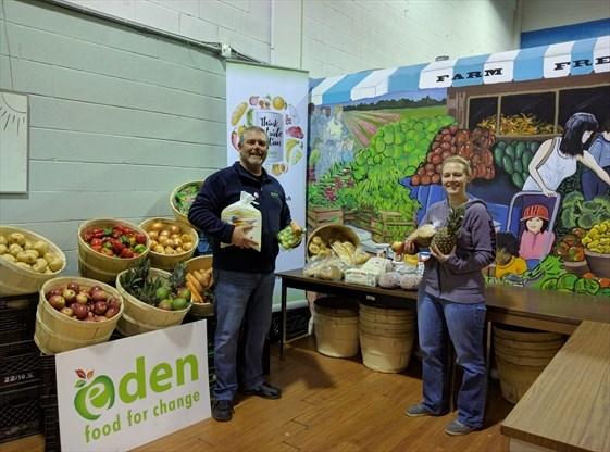 Mississauga Food Bank Celebrates Large Fresh Food Delivery