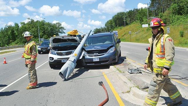 Two-vehicle crash on Highway 12 | Simcoe com