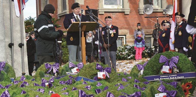 Remembrance Day in Lindsay (1)