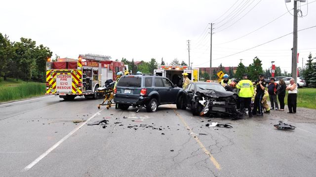 Three-car crash at Albion Vaughan and Hwy 50 sends two drivers to
