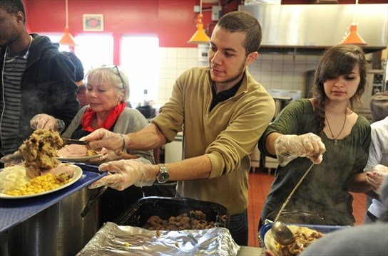 Joan Bowden (left), Youcef Tebbal, And Alanna Martin, Were Among The  Volunteers Serving Christmas Dinner To Persons In Need At St. Johnu0027s Kitchen  In ...
